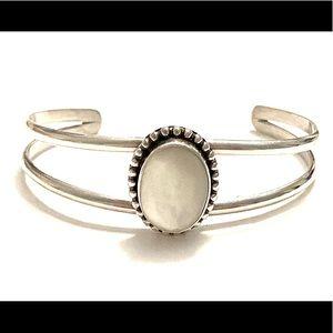Sterling silver MOP cuff Bracelet